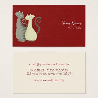 Cartão De Visitas Animais de estimação do conselho do amor do