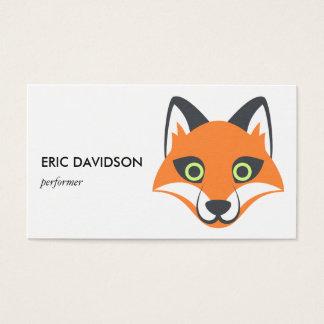Cartão De Visitas Animal bonito Foxy de Emoji