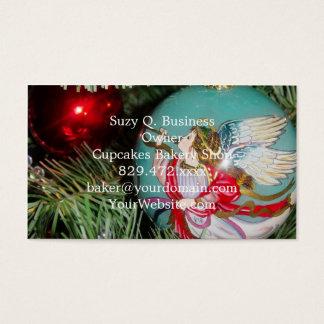 Cartão De Visitas Anjo do Natal - arte do Natal - decorações do anjo