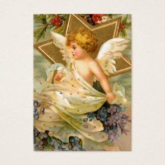 Cartão De Visitas Anjo dourado da estrela