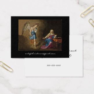 Cartão De Visitas Anjo e Mary do aviso