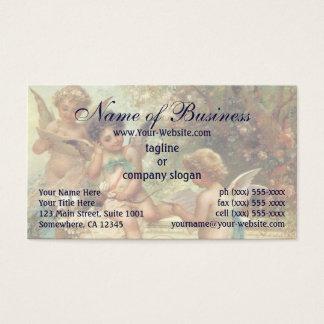 Cartão De Visitas Anjos da música do Victorian por Hans Zatzka