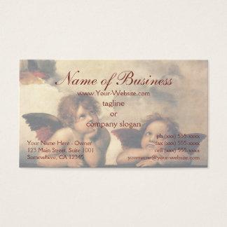 Cartão De Visitas Anjos de Sistine Madonna por Raphael Raffaello