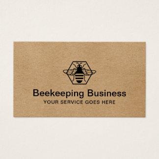 Cartão De Visitas Apiary fresco Kraft do mel da apicultura da abelha