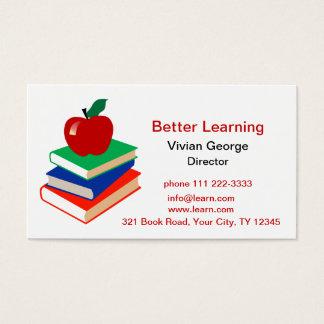 Cartão De Visitas Apple, livros, educação