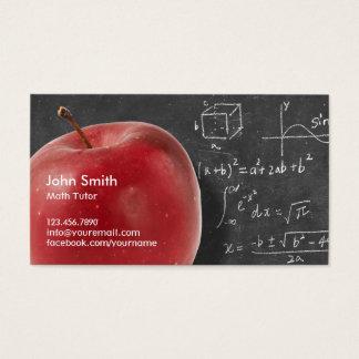 Cartão De Visitas Apple & tutor vermelhos profissionais da