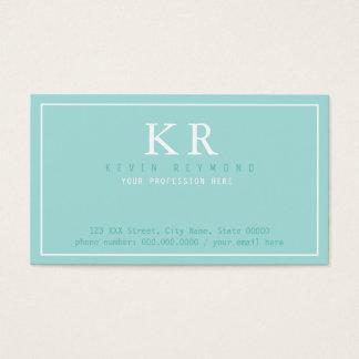 Cartão De Visitas apresentação limpa & clara básica do azul de