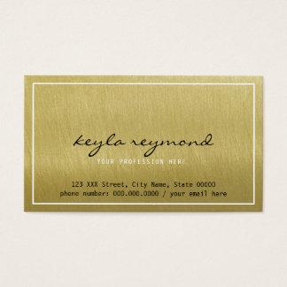 Cartão De Visitas apresentação luxe do ouro elegante do falso