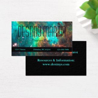 Cartão De Visitas Aqua e preto metafísicos