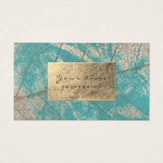 Cartão De Visitas Aquarelle dourado da folha do Sepia de Tiffany do