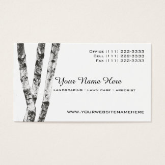Cartão De Visitas Arborist da paisagem das árvores de vidoeiro