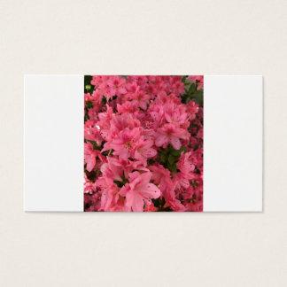 Cartão De Visitas Arbusto de florescência cor-de-rosa brilhante
