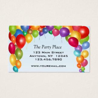 Cartão De Visitas Arco colorido do balão
