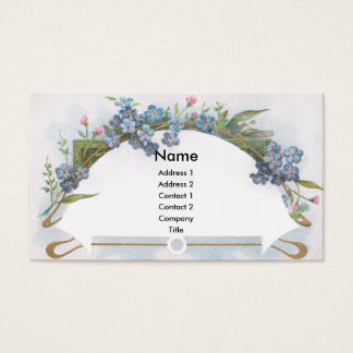 Cartão De Visitas Arco de miosótis azuis