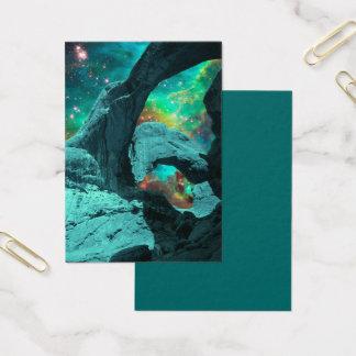 Cartão De Visitas Arco dobro na arte do espaço do espaço