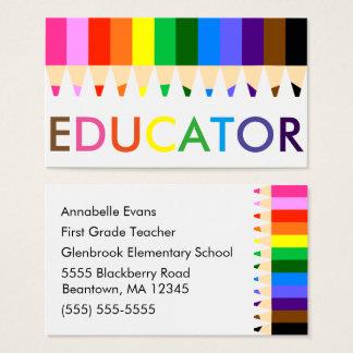 Cartão De Visitas Arco-íris do professor