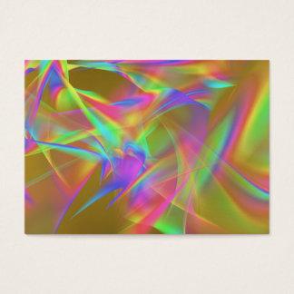 Cartão De Visitas Arco-íris dourado
