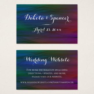 Cartão De Visitas Arco-íris que Wedding a aguarela na moda vibrante