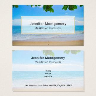 Cartão De Visitas Areia tropical cénico e surf de Sun da praia