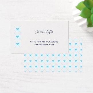 Cartão De Visitas Argyle bonito
