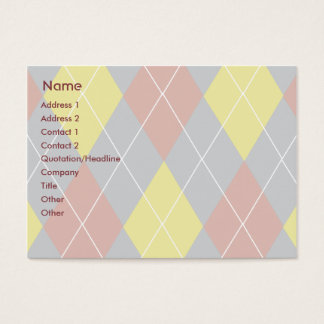 Cartão De Visitas Argyle - carnudo