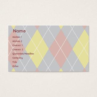 Cartão De Visitas Argyle - negócio