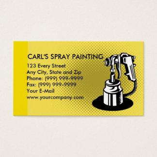 Cartão De Visitas arma da pintura de pulverizador