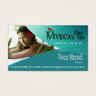 Cartão De Visitas Aromaterapia da terapia da massagem dos termas do