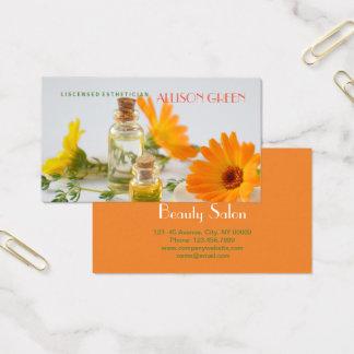 Cartão De Visitas Aromaterapia do óleo essencial da margarida da