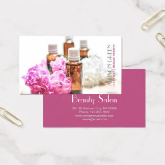 Cartão De Visitas Aromaterapia natural do óleo essencial da terapia