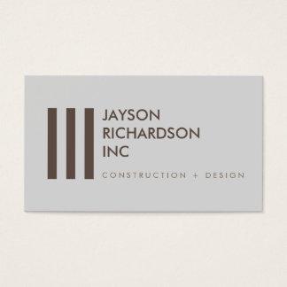 Cartão De Visitas Arquitetura moderna simples, construção, design 3
