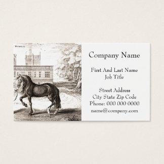 Cartão De Visitas Arte andaluza do desenho do vintage do cavalo