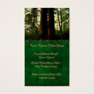 Cartão De Visitas Arte da árvore