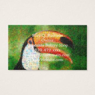 Cartão De Visitas Arte da colagem-toucan de Toucan - arte da colagem