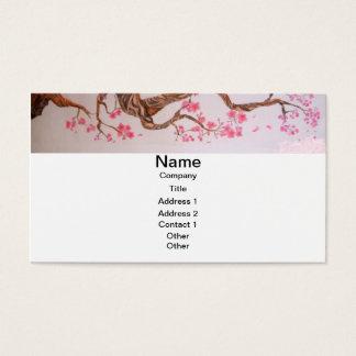 Cartão De Visitas Arte da flor de cerejeira