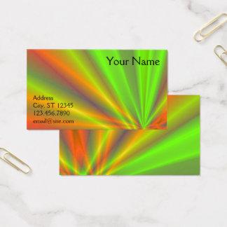 Cartão De Visitas Arte do Fractal da mostra da luz alaranjada e