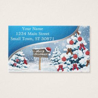 Cartão De Visitas Arte do Natal - ilustrações do Natal
