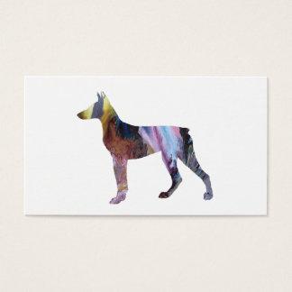 Cartão De Visitas Arte do Pinscher do Doberman