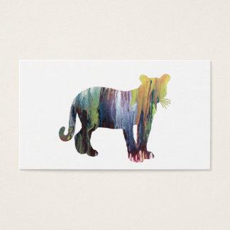 Cartão De Visitas Arte do puma/puma