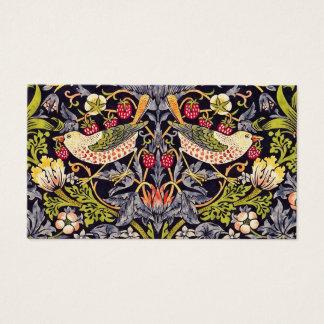 Cartão De Visitas Arte floral Nouveau do ladrão da morango de