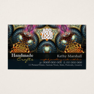 Cartão De Visitas Arte Handmade da jóia dos artesanatos com o carro