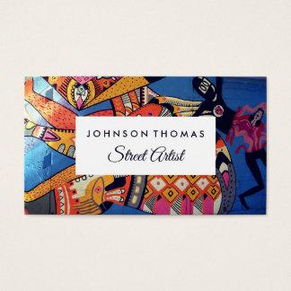 Cartão De Visitas Arte jazzístico dos grafites, artistas