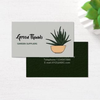Cartão De Visitas Arte Potted Home do Doodle das plantas