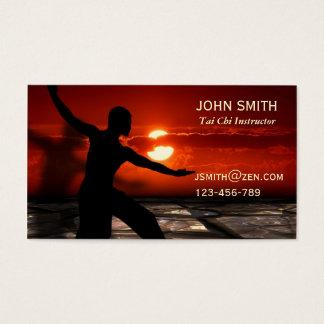 Cartão De Visitas Artes marciais do instrutor do qui da TAI