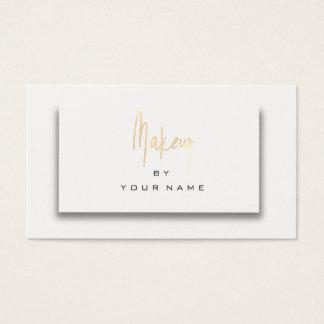 Cartão De Visitas Artista branco 3D do roteiro da composição do ouro