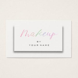 Cartão De Visitas Artista branco cor-de-rosa 3D do roteiro da