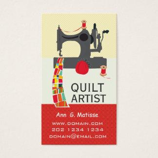 Cartão De Visitas Artista corajoso da edredão dos artesanatos da