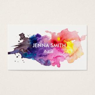 Cartão De Visitas Artista do design do respingo da aguarela