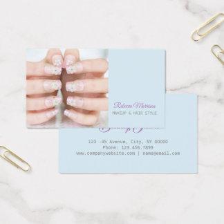 Cartão De Visitas artista do prego do manicure do salão de beleza