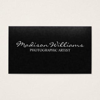 Cartão De Visitas Artista fotográfico elegante original profissional